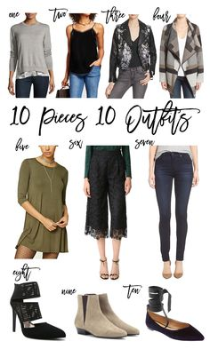 Ten Pieces Ten Outfits | Outfit Inspiration | Capsule Wardrobe