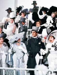 Audrey Hepburn in My Fair Lady. Eliza Doolittle: Come on, Dover! Move your bloomin' arse! Audrey Hepburn, Golden Age Of Hollywood, Vintage Hollywood, Jeremy Brett, Eliza Doolittle, Givenchy, Cecil Beaton, Woman Movie, Movie Costumes