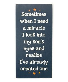 Another great find on #zulily! Miracle Son's Eyes Wall Sign #zulilyfinds