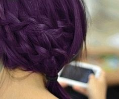 deep purple hair- this would fade on me in 2 weeks