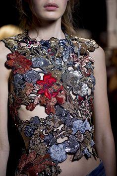 Details from Alexander McQueen Spring 2016. Paris Fashion Week.