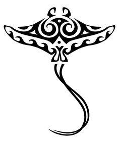 Maori stingray tattoo pattern via - simple. I like the waves on the wings. If I had a reason to get a sting ray tattoo, this is the one I'd get Kunst Tattoos, Maori Tattoos, Tribal Tattoos, Borneo Tattoos, Maori Designs, Tattoo Designs, Manta Ray Tattoos, Protection Tattoo, Stingray Tattoo