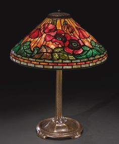 "TIFFANY STUDIOS ""POPPY"" TABLE LAMP CA 1915. Via Sotheby's"