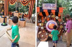 halloween carnival games - orange cones covered to look like witch hat;  or just tape a jack o lantern face on it with black paper.