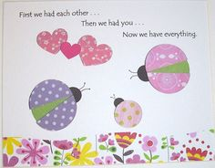 Our little love bug has finally arrived-Baby Girl Room Decor Kids Wall Art Children's by vtdesigns on Etsy, $14.00