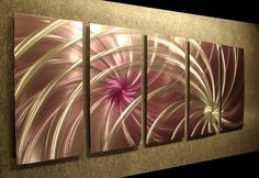 Cosmic Swirl Abstract Painting a Metal Wall Art by Niderart