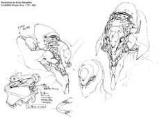 Neon Genesis Evangelion Concept Art - Eva 01