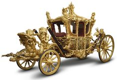 The Gold State Coach was built in 1762 and has been used at the coronation of every British monarch since George IV.