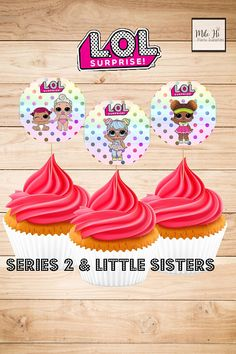 NEW LOL Surprise Dolls Treat Labels and Cupcake Topper files