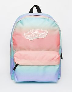 Vans Backpack in Pastel Ombre Stripe