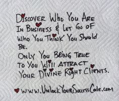 YOU are exactly who YOU need to be to SUCCEED! www.UnlockYourSuccessCode.com