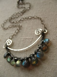 Crescent Necklace by green bee studio