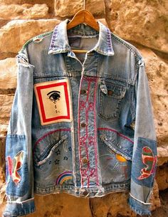 '70s embroidered jean jacket