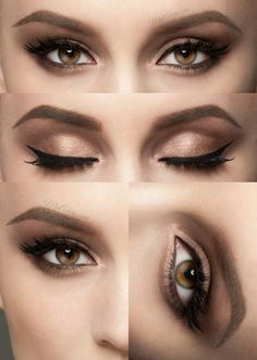 Classic eye makeup look anyone can do with this makeup.