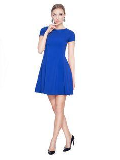 Rozkloszowana sukienka SL2165BL www.fajne-sukienki.pl Dresses For Work, Fashion, Moda, Fashion Styles, Fashion Illustrations