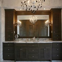 Dual Sink Vanities With Wall Towers Design Ideas, Pictures, Remodel, and Decor
