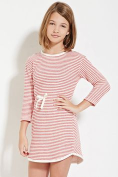 Girls Striped French Terry Dress (Kids) | Forever 21 girls - 2000180844
