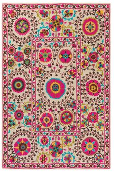 Bright Colored Bukhara Rug - [ad]