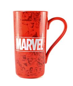 Taza XL Marvel Comics, logo  Taza de gran tamaño, basada en la factoria Marvel Comics.
