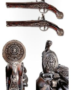 A pair of flintlock pistols by the Neapolitan gunsmith Scarpati, Italy, ca 1790.