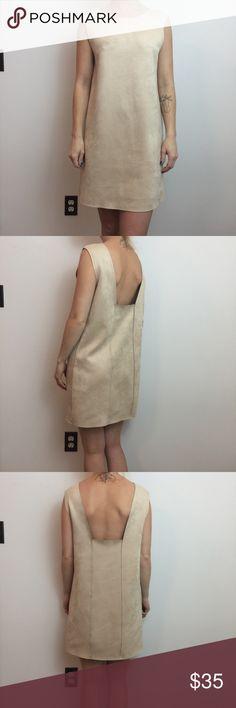 Zara Tan Sleeveless Faux Suede Shift Dress Zara Dress Soft Tan and faux suede. So cute and a size medium Zara Dresses