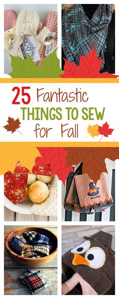 Sewing Gifts Fall Sewing Fun Things to Sew for Fall from football to Halloween, cozy blankets, warm scarves and all kinds of great Fall sewing ideas and patterns. Easy Sewing Projects, Sewing Hacks, Sewing Tutorials, Sewing Ideas, Sewing Tips, Halloween Sewing Projects, Sewing Crafts, Sewing To Sell, Love Sewing