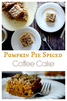 Fall season calls for fall recipes! Try this Pumpkin Pie Spiced Coffee Cake for breakfast or as a snack.