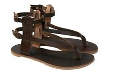 #WalkaholicS - Brown Leather Sandals - Design 24