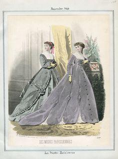 Victorian Women, Victorian Fashion, Vintage Fashion, Fashion Illustration Vintage, Fashion Illustrations, Historical Clothing, Historical Dress, Civil War Fashion, Super Images