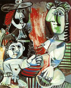 Pablo Picasso The Family 1970. Oil on canvas. 162 x 130 cm. Musée national…