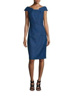 Fitted+Tweed+Dress+by+Michael+Kors+at+Neiman+Marcus.