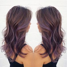 Lavender Brown Hair | 1000+ ideas about Lavender Highlights on Pinterest | Highlights ...
