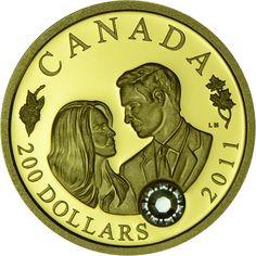 200 Dollar Gold Königliche Hochzeit: William & Catherine PP