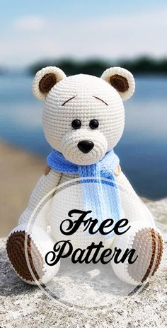 Awesome Free Amigurumi Bear Pattern Idea Very Cute: Hello friends. I found a beautiful white bear for you today. I hope you will like it. Use this free amigurumi bear pattern to crochet your own cute white bear! The legs and arms can move, they are Crochet Bear Patterns, Crochet Animals, Knitting Patterns, Free Amigurumi Patterns, Crochet Doll Pattern, Knitting Designs, Doll Patterns, Knitted Teddy Bear, Teddy Bears