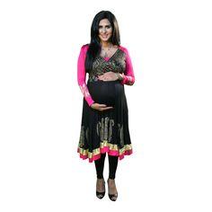 e03a6a4e7c9ac Black glamour nursing anarkali with pink churidaar SPECIAL OFFER.  bebstyle.com · indian fashion anarkali