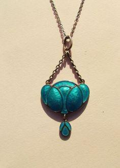 Super Murrle Bennett Co Art Nouveau Silver and Enamel Pendant | eBay