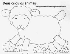 Crafts,Actvities and Worksheets for Preschool,Toddler and Kindergarten.Lots of worksheets and coloring pages. Learning To Draw For Kids, Working With Children, Pre K Activities, Preschool Learning Activities, Tracing Worksheets, Preschool Worksheets, Sheep Template, Farm Coloring Pages, Sheep Crafts