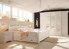 Schlafzimmer komplett Cinderella - Ein Traumhaftes Schlafzimmer in Weiss. #bedroom #Schlafzimmer #Landhausmoebel