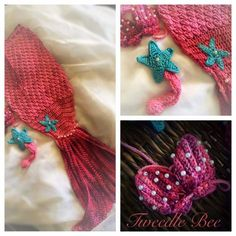 Mermaid dress set by Tweedle Bee Dress Set, Little Princess, Bee, Mermaid, Handmade Gifts, Crochet, Beautiful, Handcrafted Gifts, Crochet Hooks