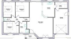 Plan De Maison Plain Pied Gratuit 3 Chambres | Plans De Maisons