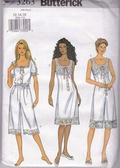 Butterick Sewing Pattern 3263 Size 12-16 Uncut Underwear Shorts Slip Jumpsuit  #Butterick