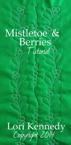 Mistletoe and Berries Free Tutorial Lori Kennedy @ The Inbox Jaunt