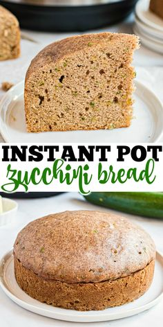 Looking for an easy way to bake with zucchini? This Instant Pot Zucchini Bread recipe makes a sweet and moist loaf without you ever needing to touch your oven. Easy Zucchini Bread, Zucchini Bread Recipes, Pastry Recipes, Sweets Recipes, Rice Recipes, Instapot Bread, Shugary Sweets, Instant Pot Dinner Recipes, Pressure Cooker Recipes