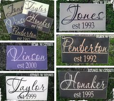 Christmas gift ideas  $16 Personalized Family Board - Pick Your Wood & Vinyl Colors! at VeryJane.com