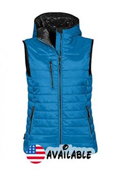 B01II6IZ36 : Stormtech Womens St806 Gravity Thermal Gilet Electric Blue/ Black S. Stormtech DWR outer shell coating. Two-tone thermal padded vest. Stormtech thermal shell technology. Fabric: 100% Nylon ripstop with 100% Polyester polyfill Weight 40gsm