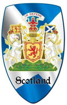 Vintage and Retro Tin Signs - JackandFriends.com - Scotland Shield Custom Shape Metal Sign 21 x 32 Inches, $94.98 (http://www.jackandfriends.com/scotland-shield-custom-shape-metal-sign-21-x-32-inches/)