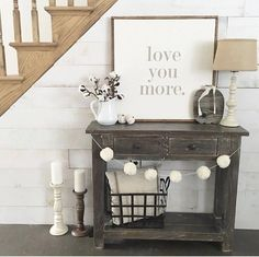 LOVE YOU MORE Painted Wood Sign  Wall decor Rustic Chic, LOVE YOU MORE Painted Wood Sign  Wall decor Rustic Chic, farmhouse, rustic, entry way, living room, dining room, family room, bedroom, stairs,  bathroom, master bedroom, kitchen, storage, side table, sofa tsble,signs. Diy decor, home decor, shiplap #afflink