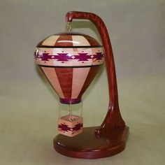 Beautiful Hot Air Balloon Woodturning by passionsinwood on Etsy, $345.00
