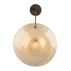 Orbe Wall Sconce By Veronese  Contemporary, Glass, Metal, Wall by Jean De Merry