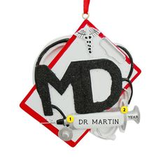 This doctor ornament is a great way to say thanks to your favorite doctor. They go above and beyond for you, so it's always nice to make them feel special during the holidays. White Coat Ceremony, Personalized Christmas Ornaments, Above And Beyond, Medical School, Feeling Special, How To Make Ornaments, Secret Santa, Graduation, Great Gifts